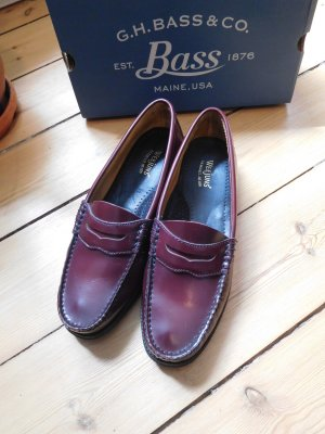 G.H. Bass & Co. Scarpa slip-on marrone-rosso Pelle