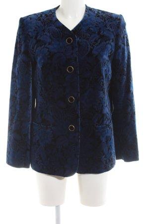 G+H Moden Long-Blazer blau-schwarz Blumenmuster Elegant