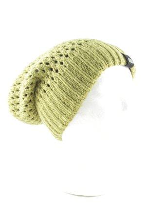 G.i.g.a. dx Chapeau en tricot vert torsades style décontracté