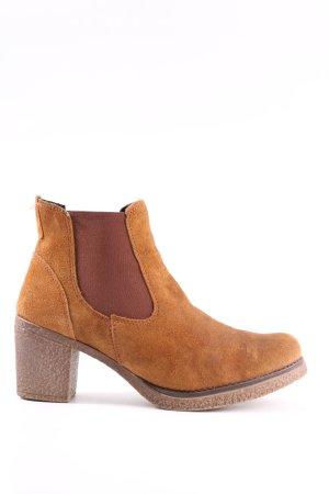 G.K.M. Chelsea Boots hellorange Business-Look