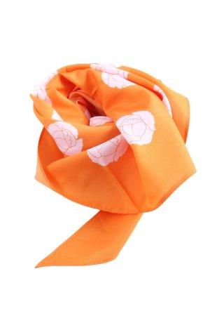 G.K.M. Fazzoletto da collo arancione chiaro-rosa stampa integrale stile casual