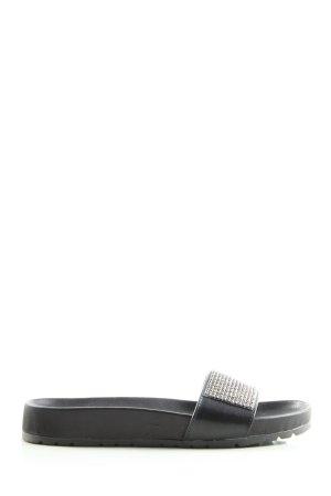 G.K.M. Komfort-Sandalen schwarz-silberfarben Casual-Look