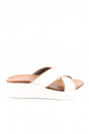G.K.M. Comfort Sandals white casual look