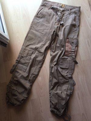 G-Lago Pantalon cargo marron clair-gris brun
