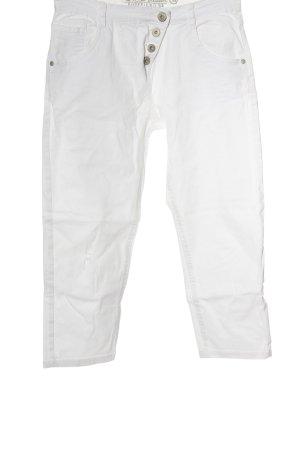 G!na Jeans 7/8 blanc style décontracté