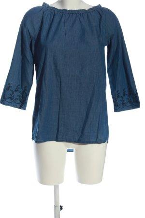 G!na Carmen-Bluse blau Casual-Look