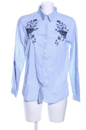 G!na Hemd-Bluse blau Streifenmuster Business-Look