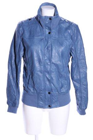 G!na Kunstlederjacke blau Casual-Look