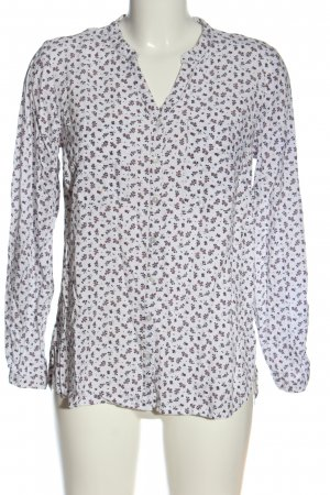 G!na Langarm-Bluse Allover-Druck Casual-Look