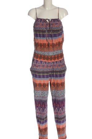 G!na Langer Jumpsuit abstraktes Muster Casual-Look