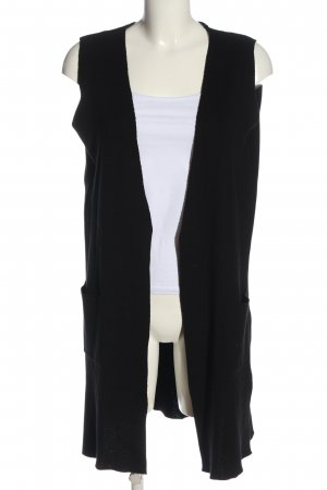 G!na Long Knitted Vest black casual look