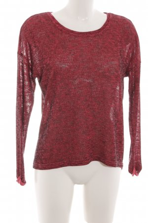 G!na Rundhalspullover rot meliert Casual-Look
