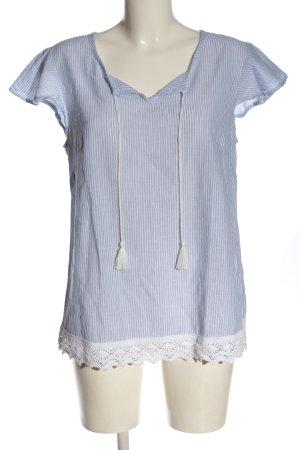G!na Schlupf-Bluse blau-weiß Streifenmuster Casual-Look