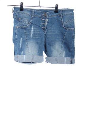 G!na Shorts blau-weiß Casual-Look