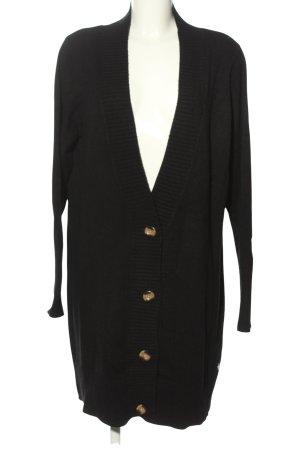 G!na Płaszcz z dzianiny czarny W stylu casual