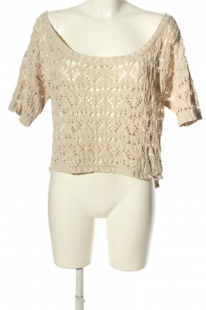 G!na Knitted Top cream casual look