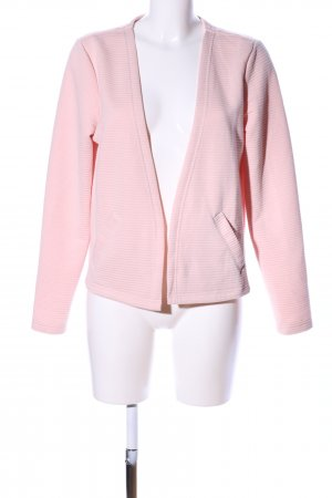 G!na Sweatjacke pink Streifenmuster Casual-Look