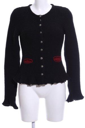 G!na Folkloristische jas zwart casual uitstraling