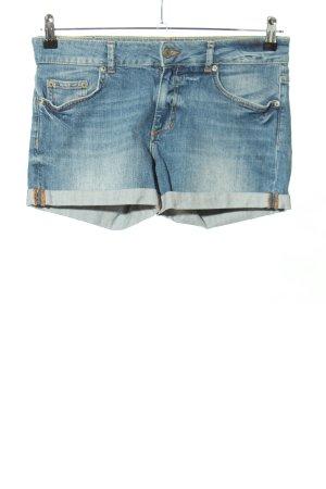 g perfect jeans Pantalón corto de tela vaquera azul look casual