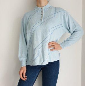 G. Sauer 46 blau Cardigan Strickjacke Oversize Pullover Hoodie Pulli Sweater Top True Vintage