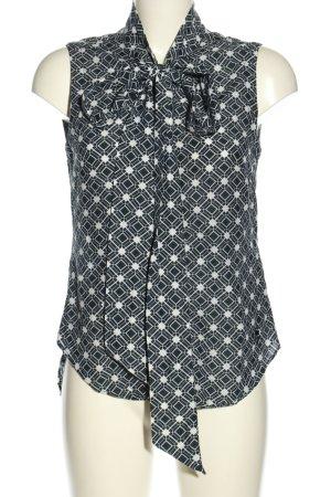 G-Star ärmellose Bluse schwarz-weiß Allover-Druck Business-Look