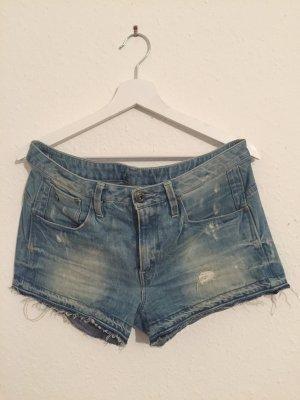 Gstar Short en jean bleu azur