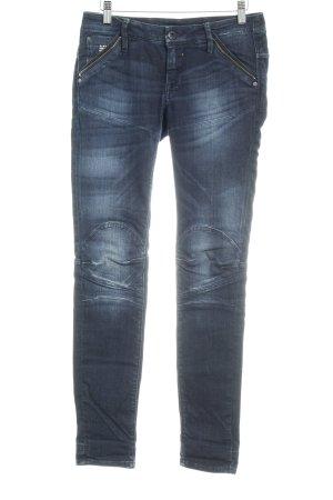 G-Star Baggy Jeans dark blue flecked casual look