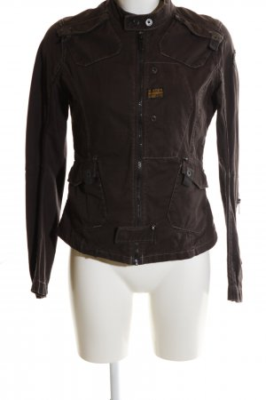 G-Star Bikerjacke braun Casual-Look