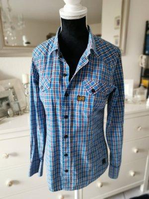 G-star Bluse Hemd blau kariert