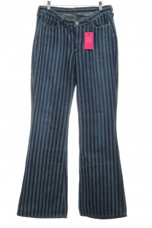 G-Star Boot Cut Jeans kornblumenblau-blau Streifenmuster Lederelemente