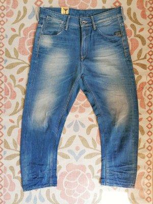 G-Star, Boyfriend Jeans, W27, 7/8 Länge, Mittelblau, neu