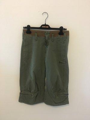 g-Star Capri Dreiviertel Sommer Hose sportlich oliv Khaki grün small 36