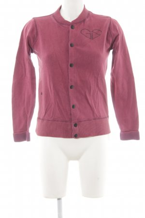 G-Star Cardigan bordeauxrot sportlicher Stil