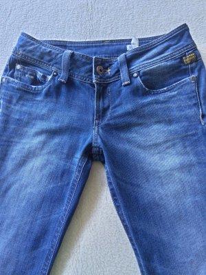 G-Star Jeansy o kroju boot cut chabrowy-stalowy niebieski Bawełna