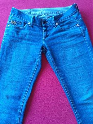 G-Star Raw Jeansy o kroju boot cut chabrowy-stalowy niebieski Bawełna
