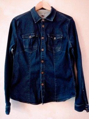 G-STAR WOMEN Bluzka jeansowa ciemnoniebieski
