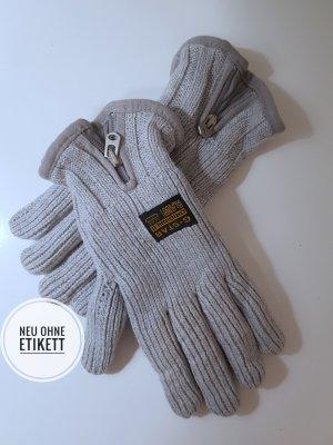 G-Star Gants en tricot gris clair