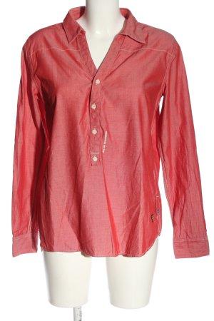 G-Star Hemd-Bluse rot Schriftzug gedruckt Casual-Look