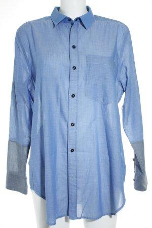 G-Star Hemd-Bluse graublau-blau klassischer Stil