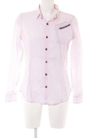 G-Star Hemd-Bluse weiß-neonrot Casual-Look