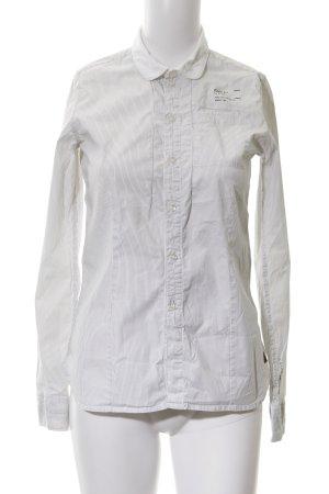 G-Star Hemd-Bluse weiß-schwarz Streifenmuster Business-Look