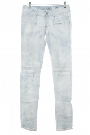 G-Star High Waist Jeans white-azure embroidered lettering second hand look