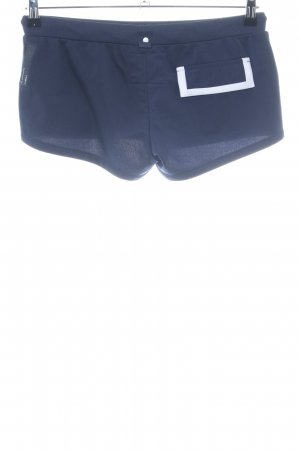 G-Star High-Waist-Shorts blau-weiß Casual-Look
