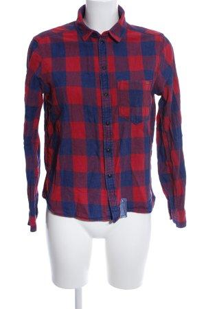 G-Star Holzfällerhemd rot-blau Karomuster Casual-Look
