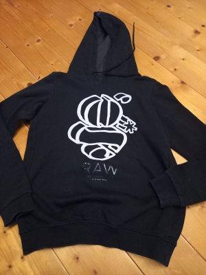 Gstar Capuchon sweater zwart-wit Gemengd weefsel