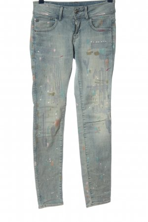 G-Star Low Rise jeans blauw-wit casual uitstraling