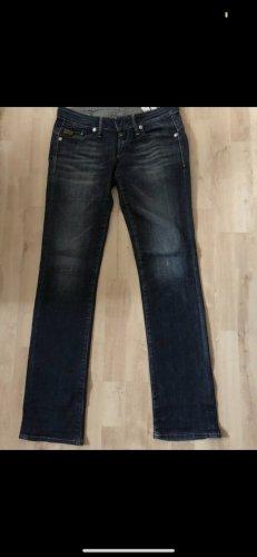 G-Star Jeansy z prostymi nogawkami ciemnoniebieski