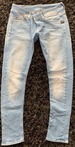 G-Star Jeans vita bassa blu pallido