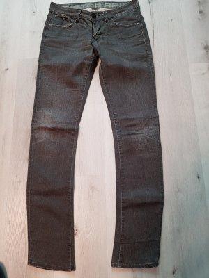 G-Star Jeansy z prostymi nogawkami ciemnoszary-antracyt