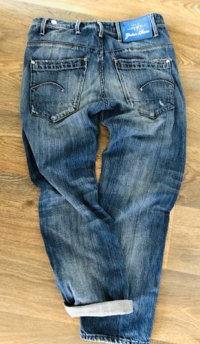 G-Star 7/8 Length Jeans cornflower blue cotton